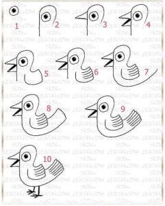 adım adım ördek çizimi