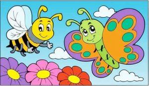 arı ile kelebek
