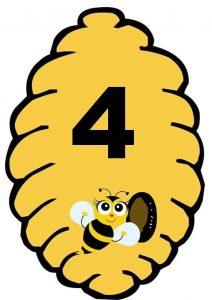 Arı Kovan Sayı Kartları Evimin Altın Topu