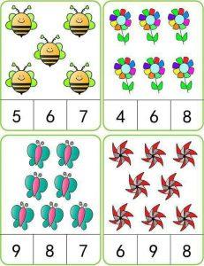 böcek sayı kartı
