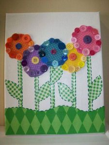 düğmeden çiçekler