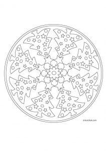 Yılbaşı Mandala Boyama Sayfaları En Güzel Yılbaşı Boyamaları