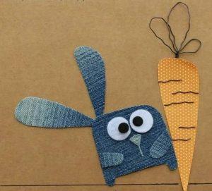 kottan tavşan havuç yapımı