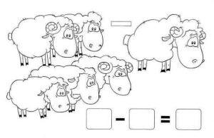 koyunlarla çıkarma işlemi