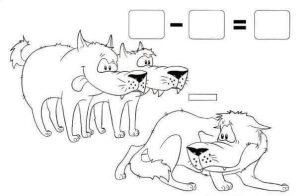 kurtlarla çıkarma işlemi