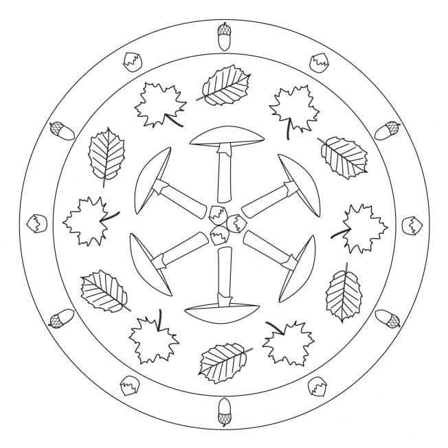 Sonbahar Mevsimi Mandala Etkinlikleri Harika Mandala çalışmaları