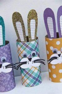 tuvalet kağıdından kolay tavşan yapımı