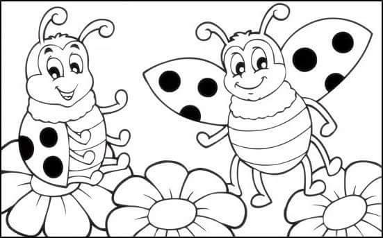Hd Exclusive Uğur Böceği Boyama Sayfası Yazdırılabilir Boyama