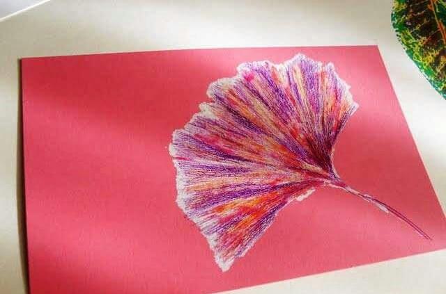 yapraklar ile ilgili sanat harika