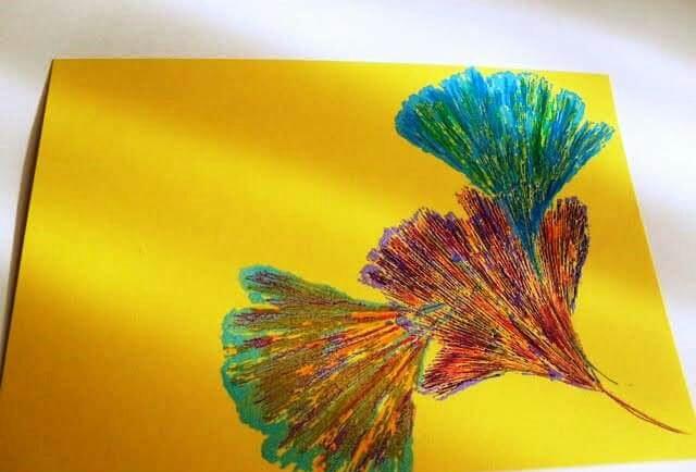 yapraklar ile ilgili sanat etkinliği