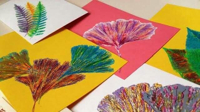 yapraklar ile ilgili sanat çalışması