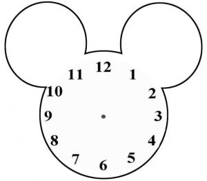 Mickey Mouse Saati Yapimi Evimin Altin Topu
