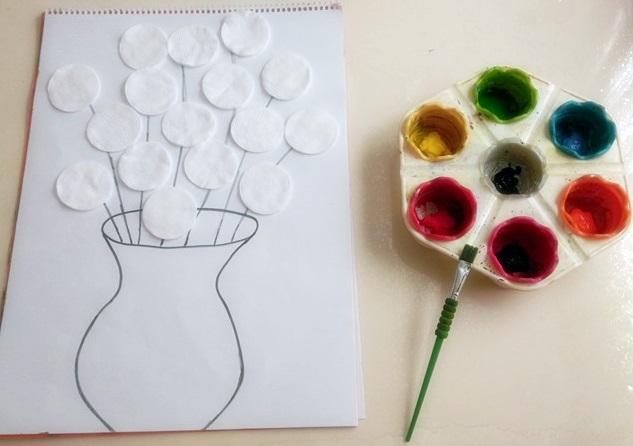 Photo of Makyaj Pamuğundan Çiçek Yapımı