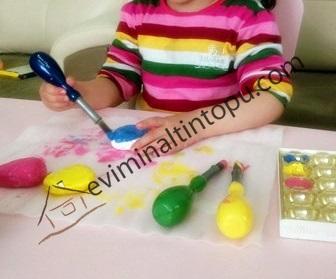 taş boyama örnek çalışması
