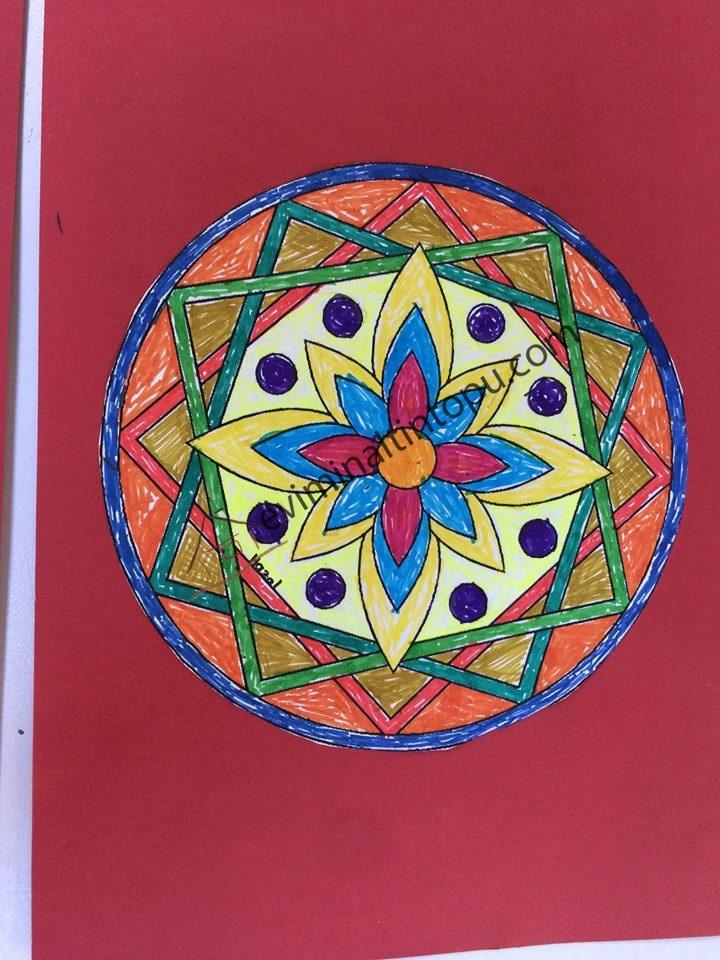 çocuklarda Mandala Sanatı Evimin Altın Topu