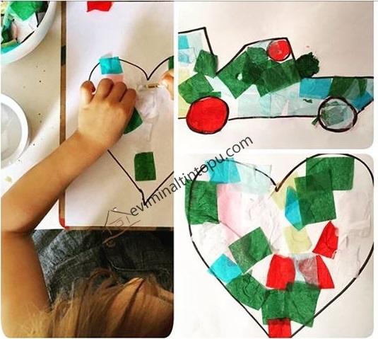 Okul Oncesi Kolaj Calismalari Kolaj Sanat Etkinlikleri
