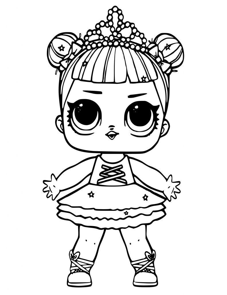 Lol Doll Coloring Pages Bon Bon Bernard Cova Printable Mewarnai Site