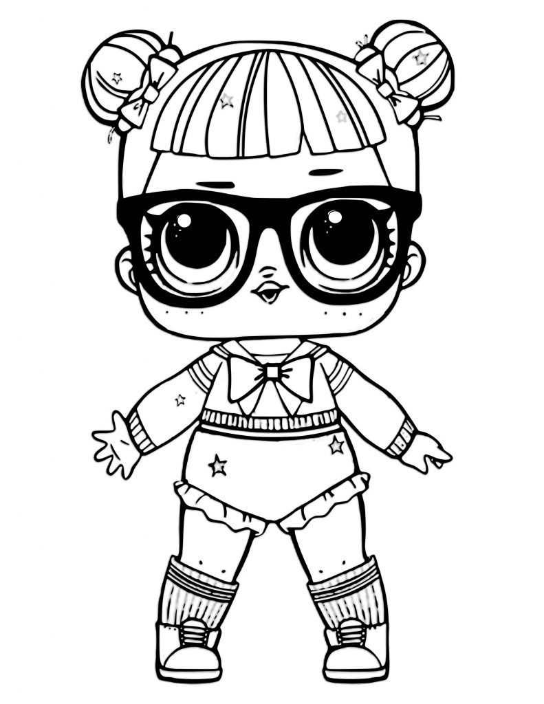 Coloring Pages Lol Doll Unicorn Pet Printable Michael Williams